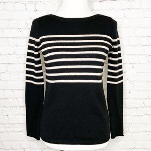 Madewell Striped 100% Merino Wool Sweater XS